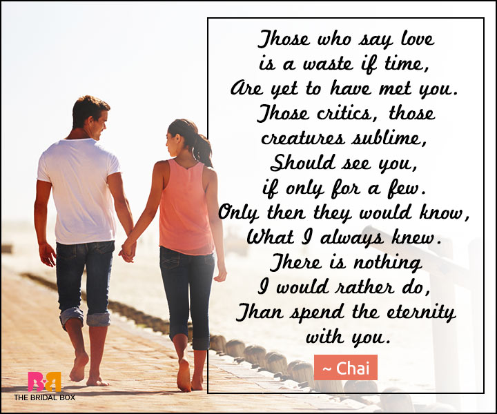 Love Poems For Wife - Those Critics