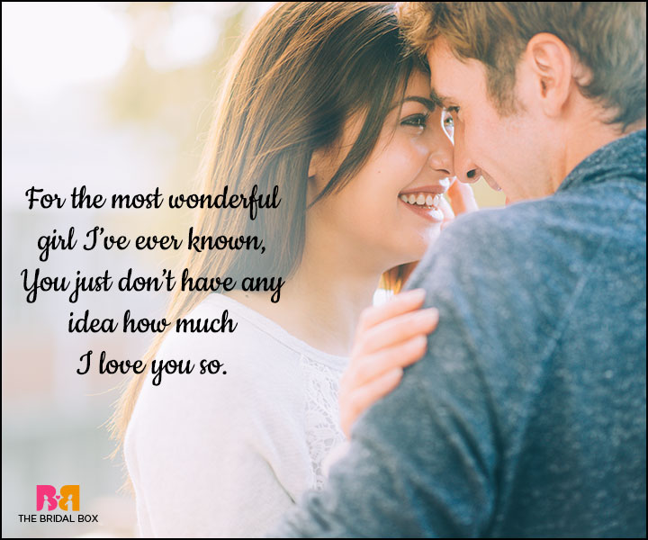 Love SMS For Girlfriend - The Most Wonderful Girl