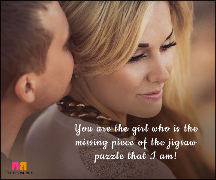Love SMS For Girlfriend - The Missing Piece