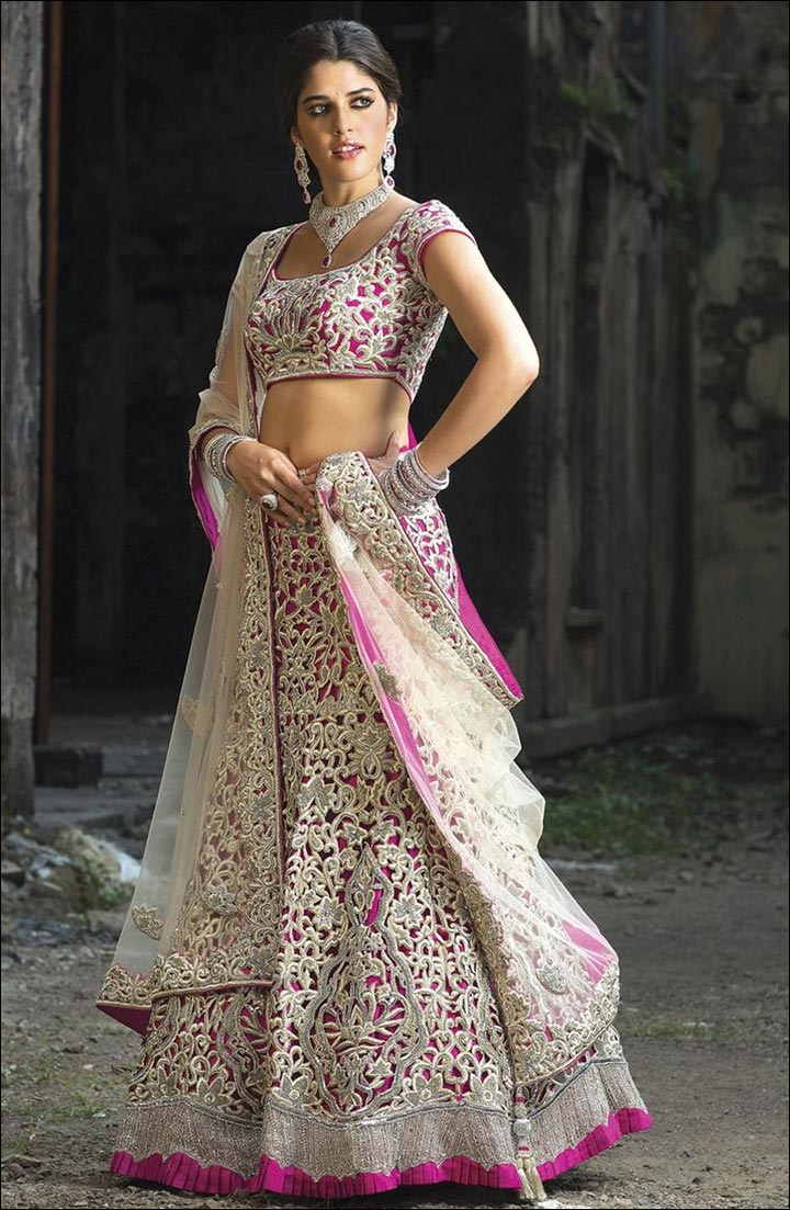 Lehenga For Engagement - Marvellous Magenta