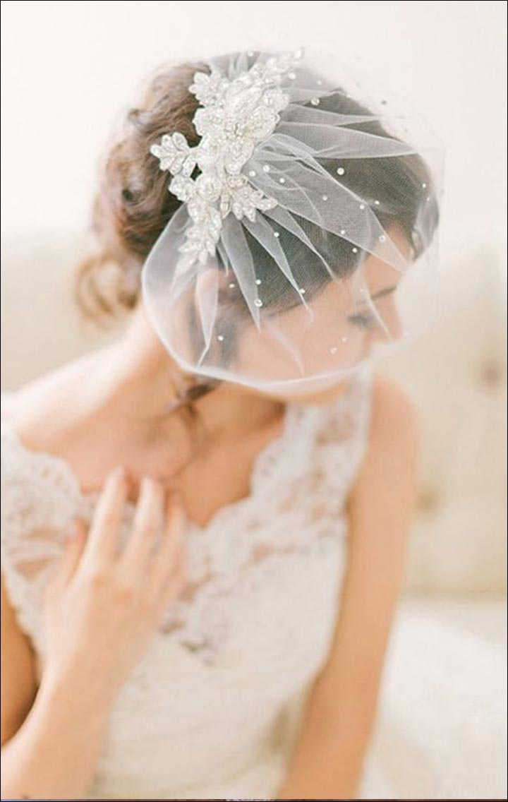 Wedding Veils - Netted Head