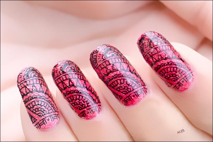 Bridal Nail Art Designs - 'Net'working Bridal Nail Art