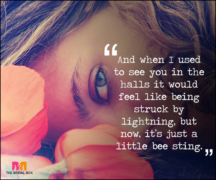 Painful Love Quotes - Struck By Lightning