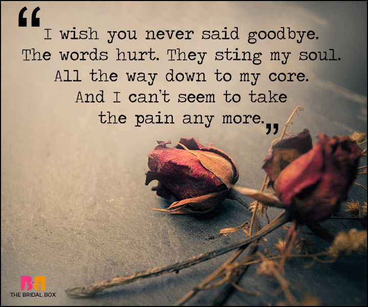 Painful Love Quotes - The Words Hurt