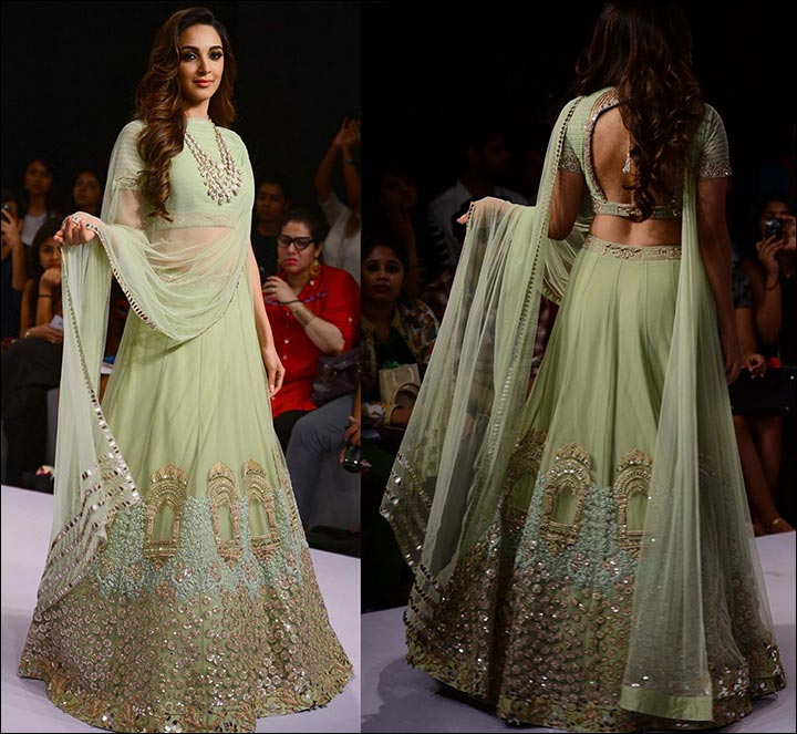 Lehenga For Engagement - Pista Green Lehenga
