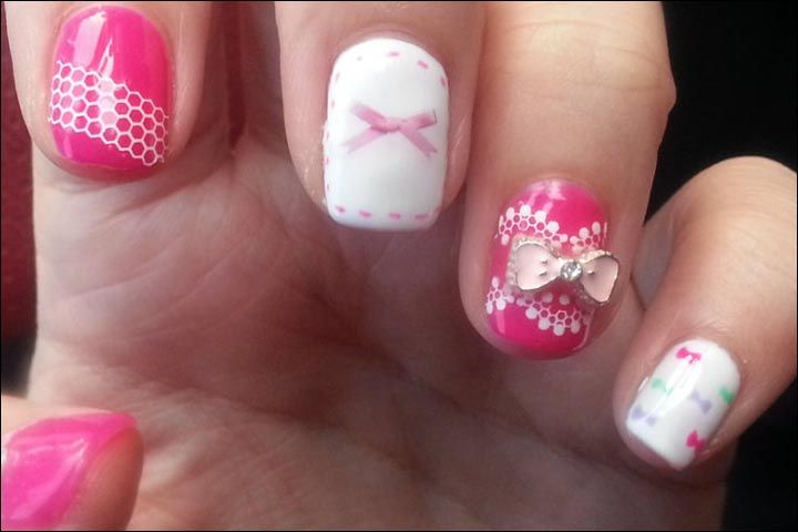 Bridal Nail Art Designs - Pretty In Pink Bridal Nail Art