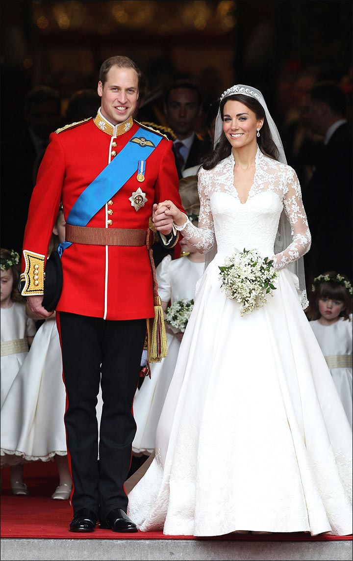 Royal Wedding Dresses - Prince William And The Duchess Of Cambridge Kate Middleton