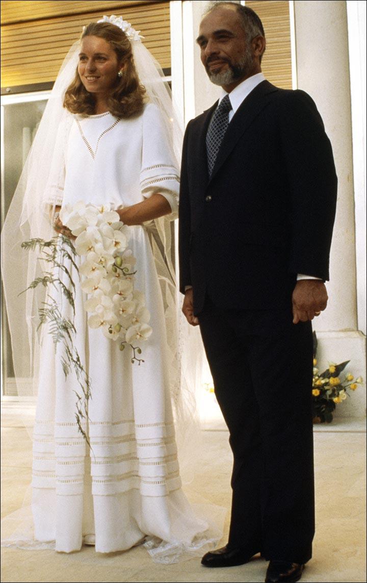 Royal Wedding Dresses - Queen Noor and King Hussain