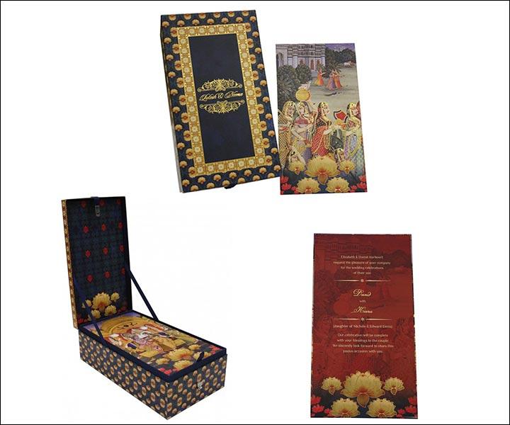 Designer Wedding Cards - Radha – Krishna