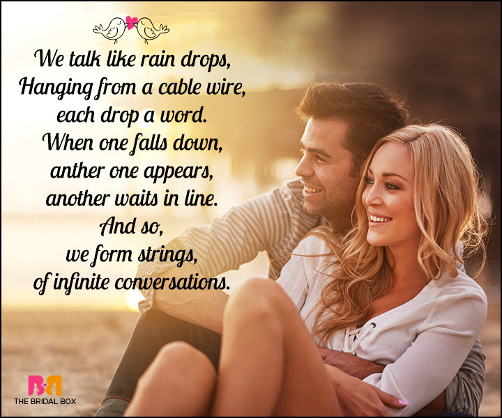 Romantic Love SMS - Rain Drops