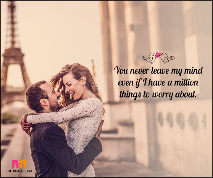 Romantic Love SMS - You Never Leave My Mind