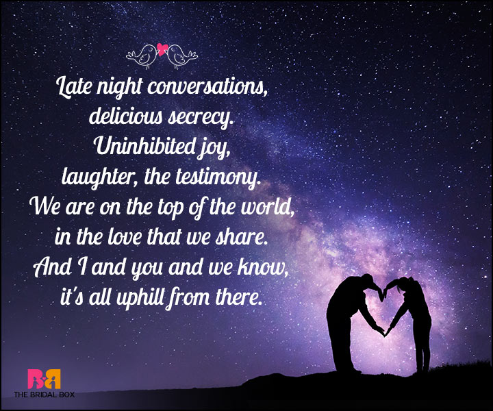 Romantic Love SMS - On Top Of The World