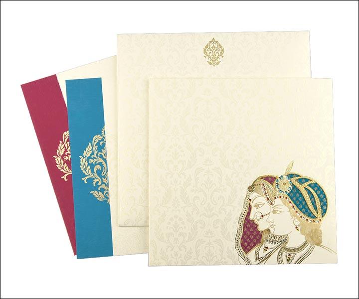 Designer Wedding Cards - Shahzada And Shahzadi