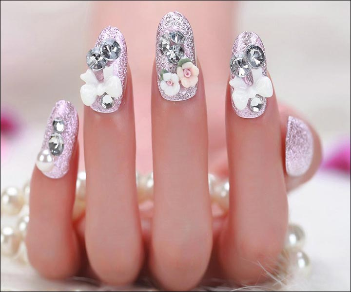 Bridal Nail Art Designs - Shimmer And Shine Bridal Nail Art