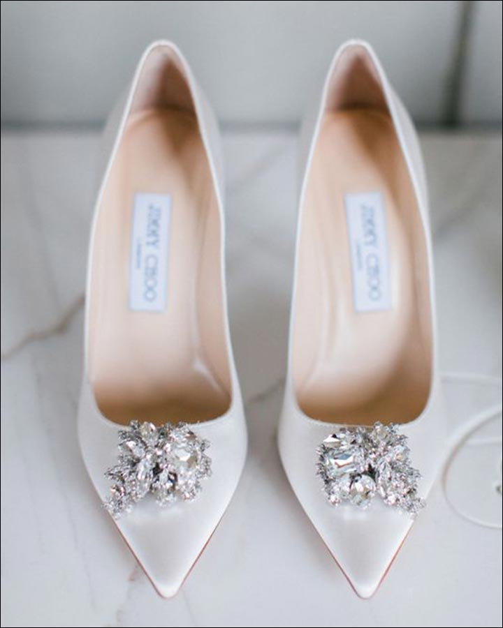 Jimmy Choo Wedding Shoes   Snow White