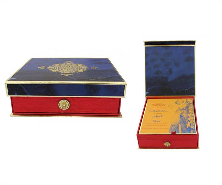 designer wedding cards the box invite