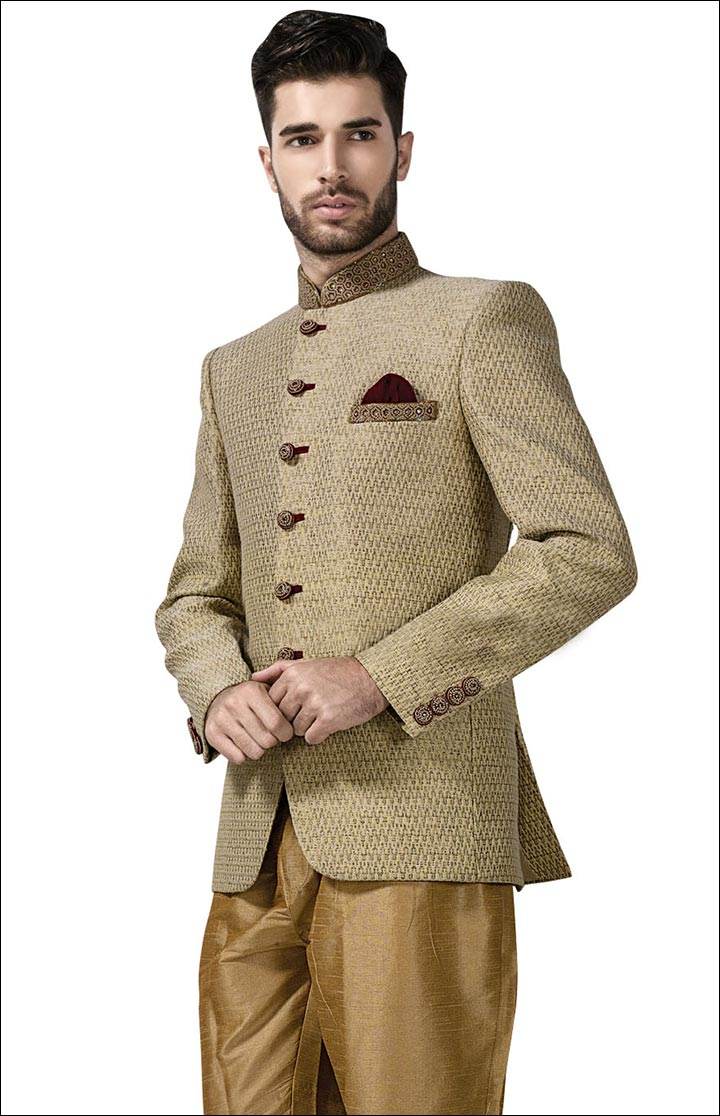 Jodhpuri Suits For Wedding - The Designer Beige Jodhpuri