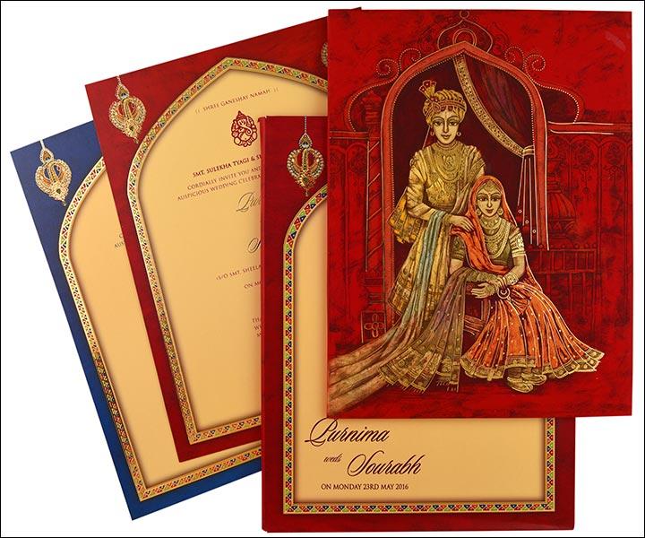 Designer Wedding Cards - The Royal Wedding