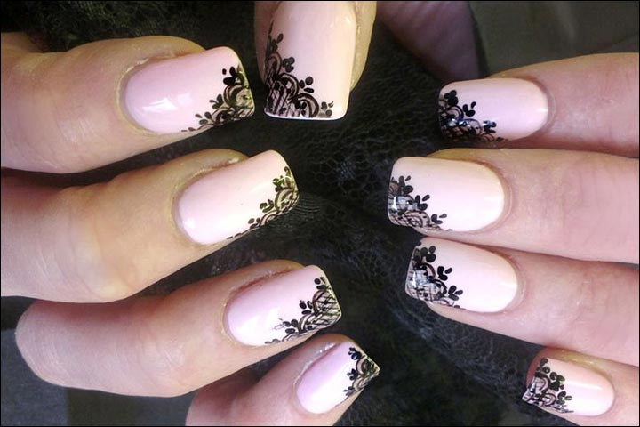 Veiled Beauty Bridal Nail Art