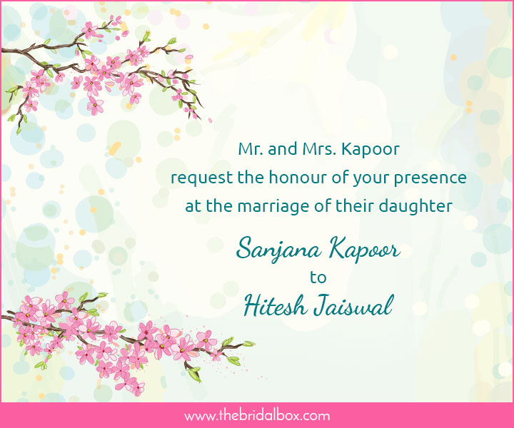 Wedding Invitation Wording - 1