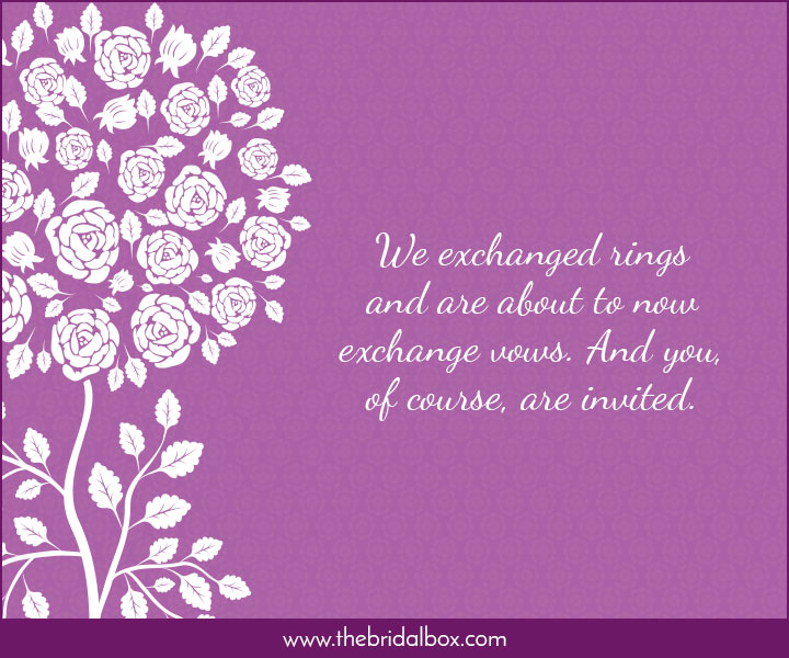 Wedding Invitation Wording - 15