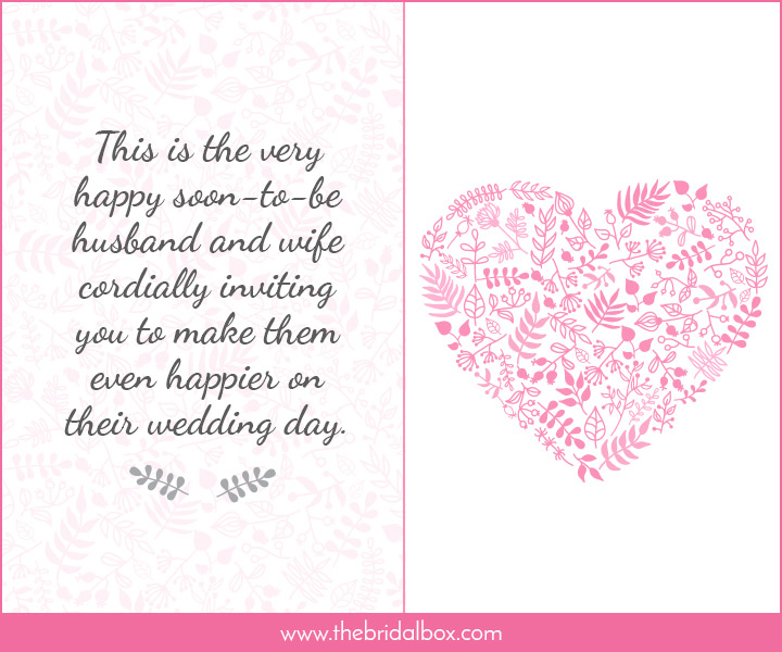 Wedding Invitation Wording - 17