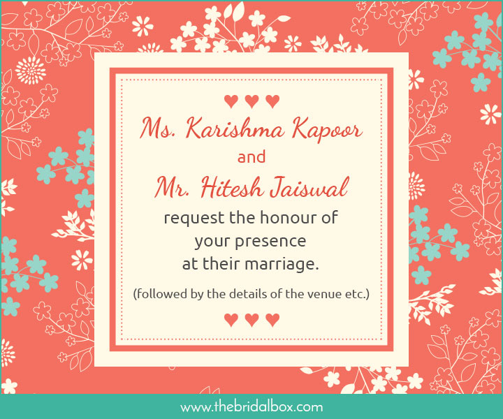 Indian Wedding Invitation Message: 50 Wedding Invitation Wording Ideas You Can Totally Use