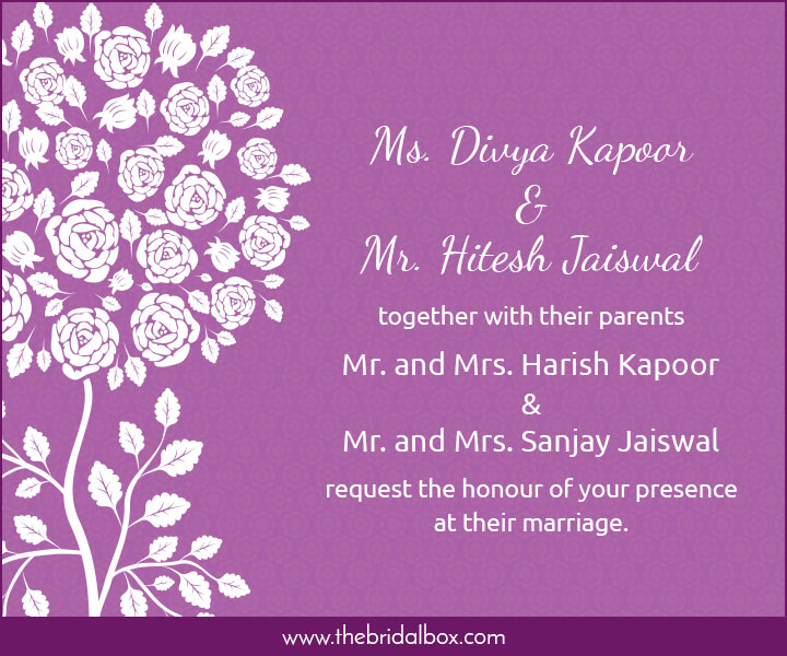 Wedding Invitation Wording - 3