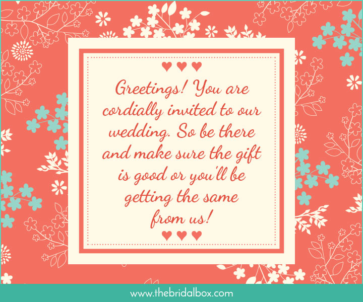 Wedding Invitation Wording - 32