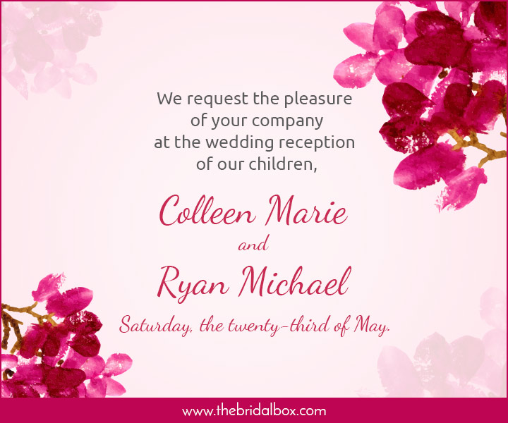 Wedding Invitation Wording - 4