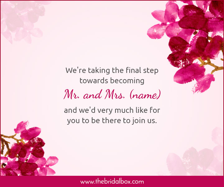 Wedding Invitation Wording - 44