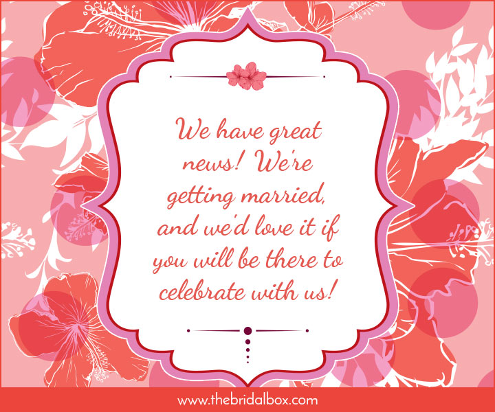 the perfect tone for you to adopt for your wedding invitation wording