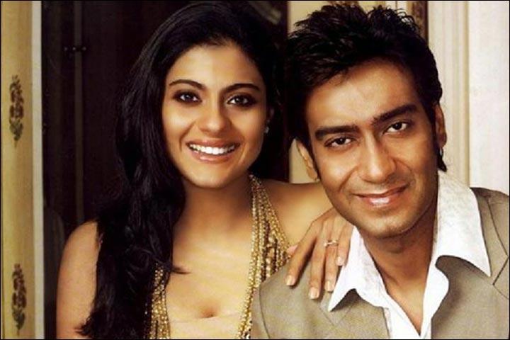 Kajol's Wedding To Ajay Devgan - Kajol And Ajay Pose For Hi!Blitz Magazine