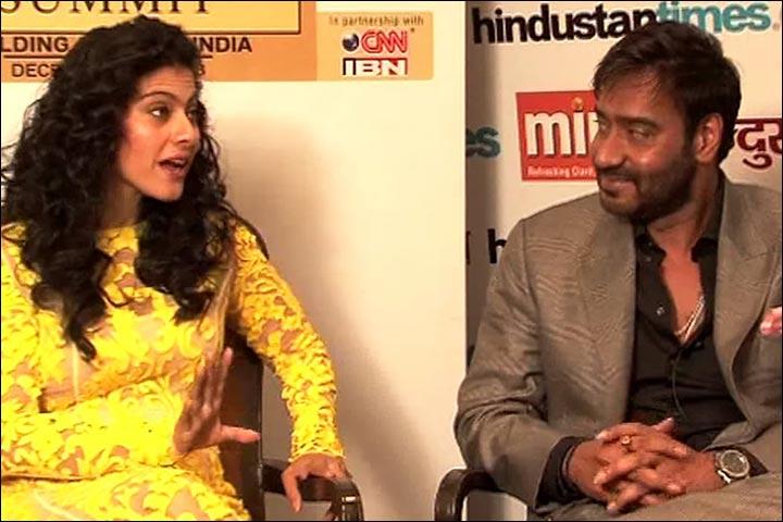 Kajol's Wedding To Ajay Devgan - Ajay And Kajol At The Hindustan Times Leadership Summit 2013
