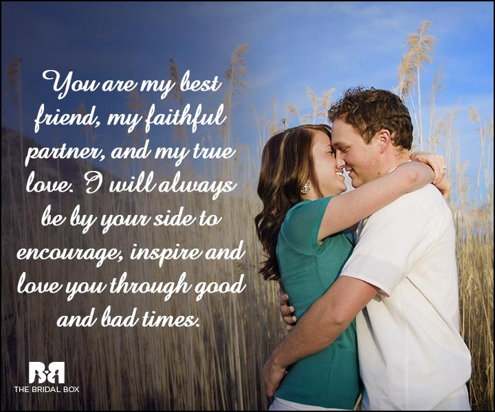 Engagement Quotes - By Your Side