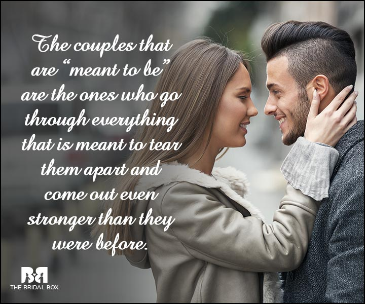 Engagement Quotes - Meant To Be