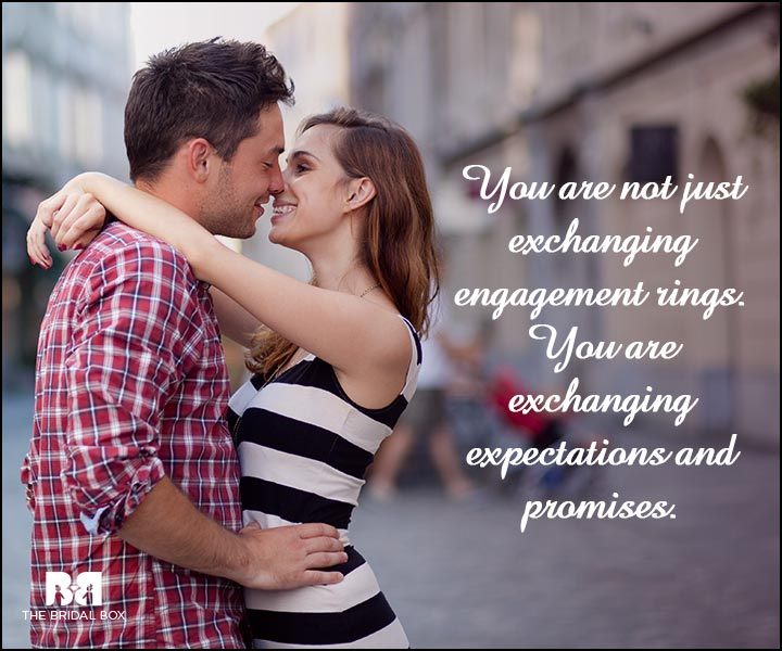 Engagement Quotes - Exchanging Expectations And Promises
