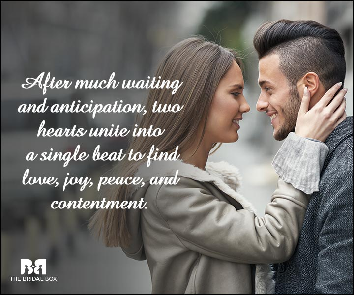 Engagement Quotes - Love, Joy, Peace And Contentment