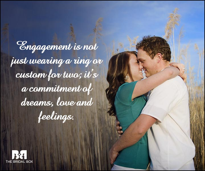 Engagement Quotes - A Commitment Of Dreams, Love And Feelings
