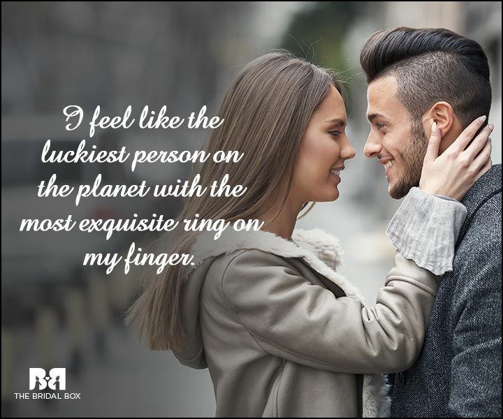 Engagement Quotes - The Luckiest Person