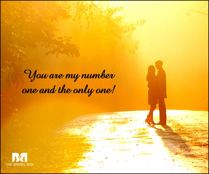 Engagement Quotes - The Only One