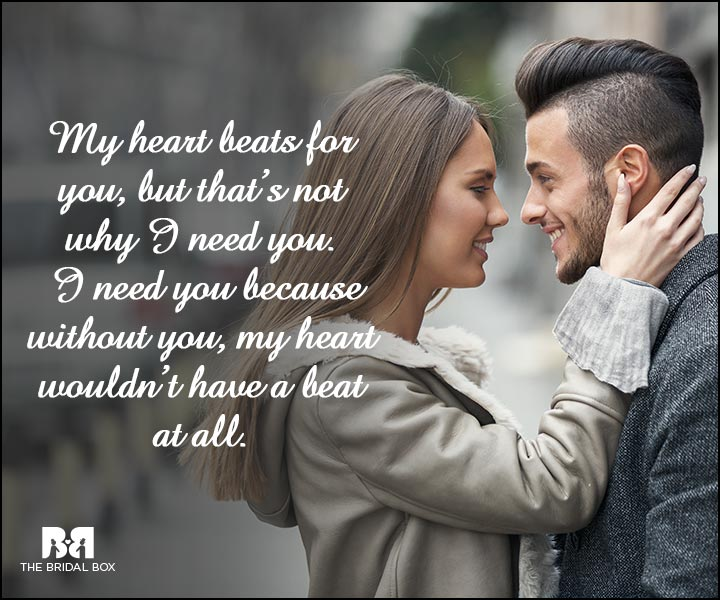 Engagement Quotes - My Heart Beats For You
