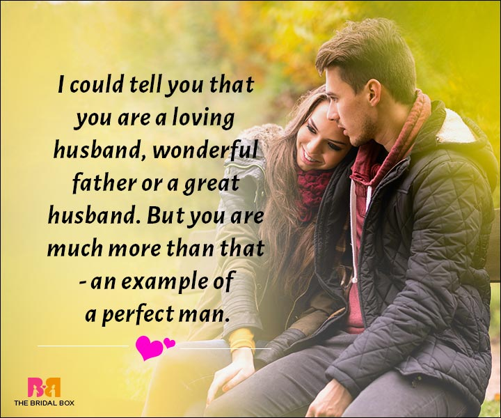 Love Messages For Husband - The Perfect Man