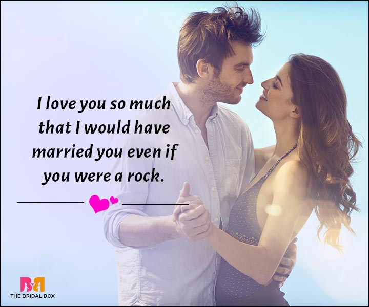Love Messages For Husband - Even If You Were A Rock