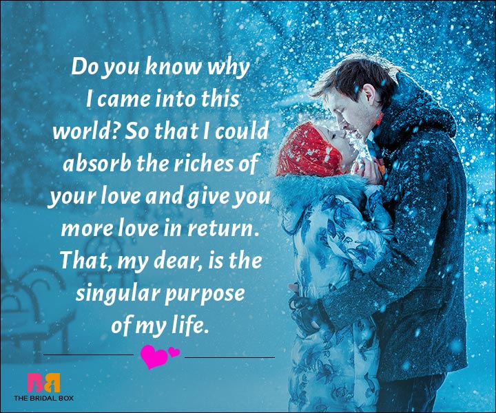 Love Messages For Husband - The Singular Purpose Of My Life