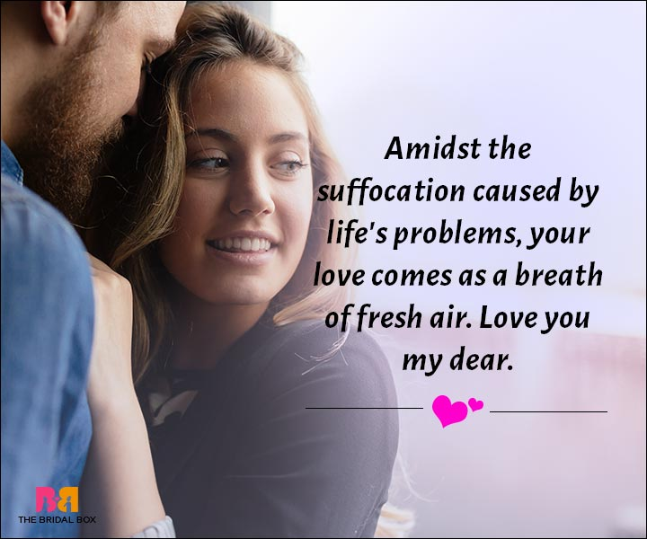 Love Messages For Husband - Your Love Comes As A Breathe Of Fresh Air