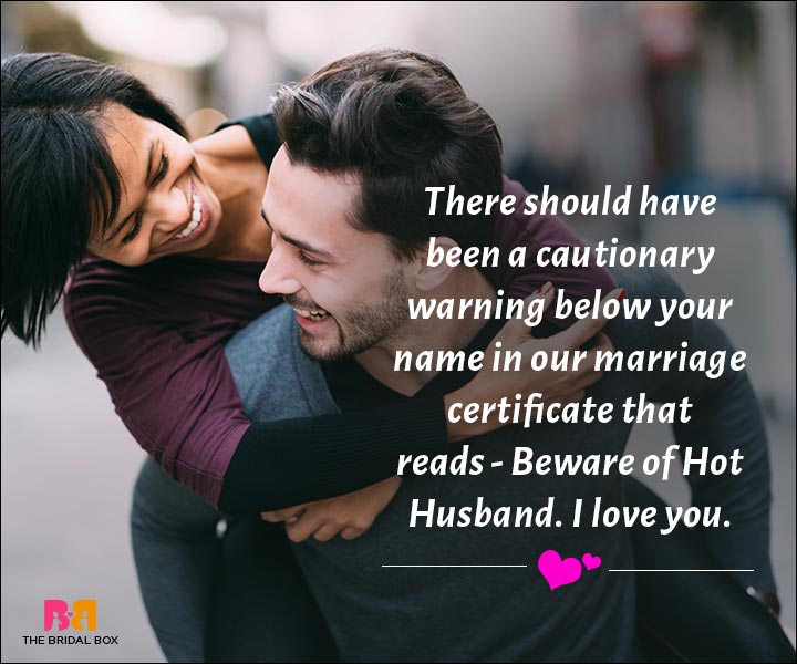 Love Messages For Husband - Beware Of Hot Husband