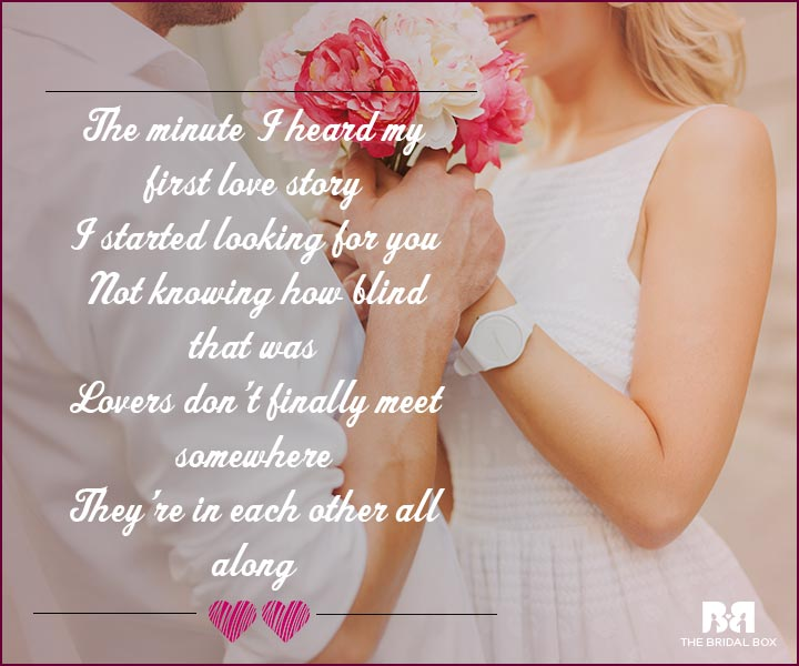 Love Proposal Quotes - In Each Other All Along
