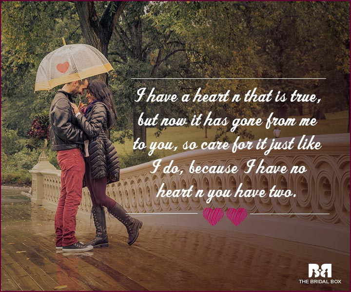 Love Proposal Quotes - I Don't have My Heart Anymore