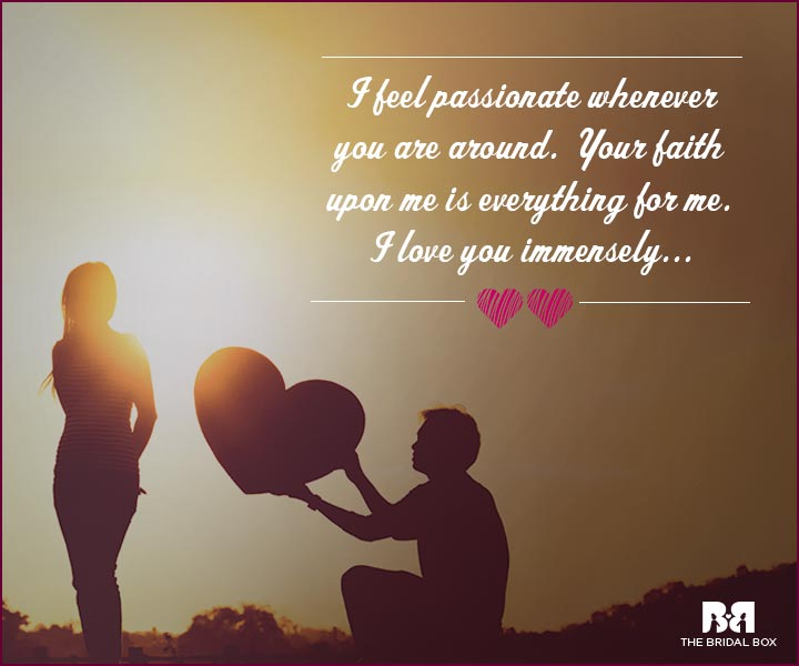 Love Proposal Quotes - Your Faith